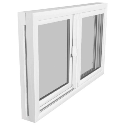 Northview Aspen Glider 32 In. W. x 15-1/4 In. H. White PVC Basement Window