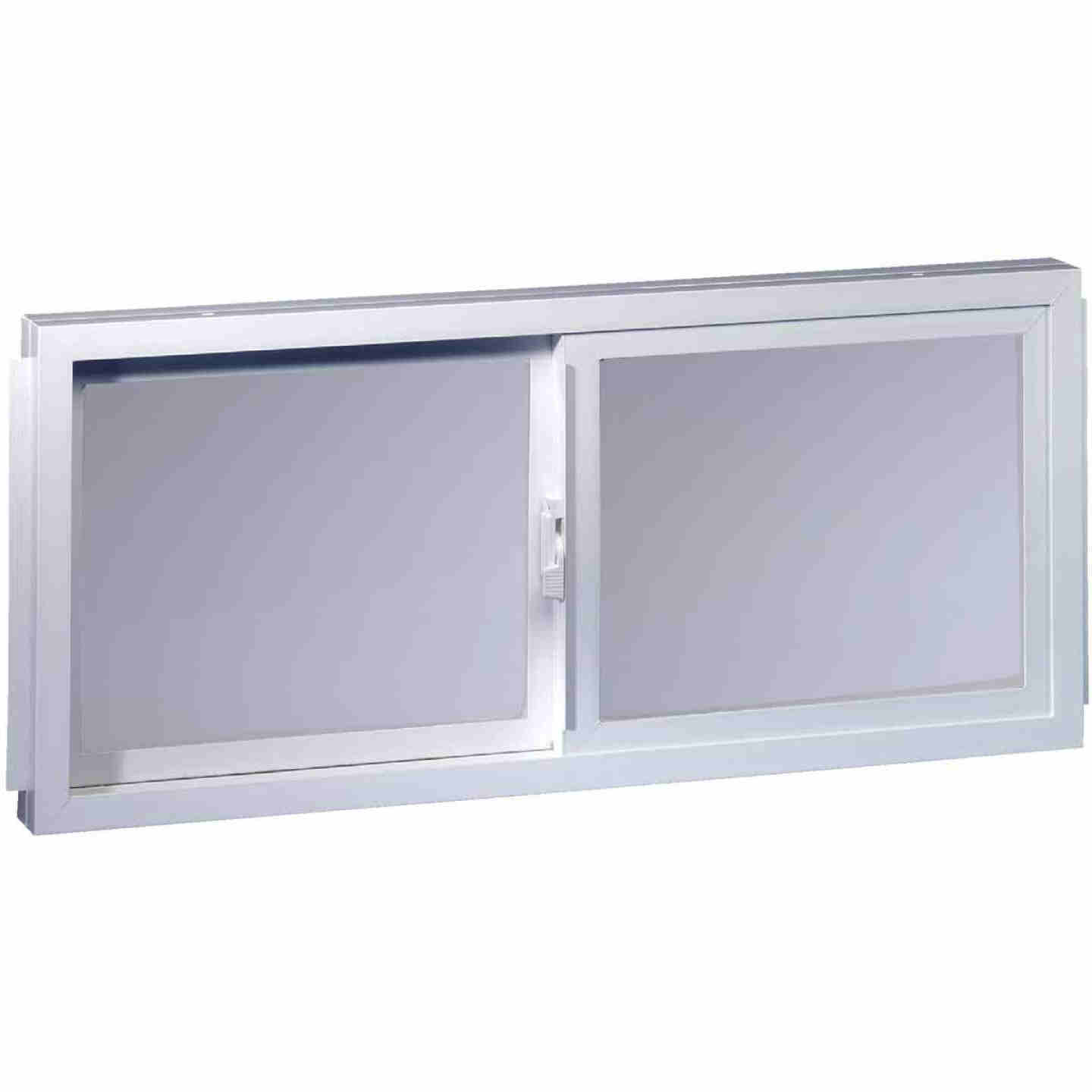 Northview Aspen Glider 32 In. W. x 23-1/4 In. H. White PVC Basement Window Image 1