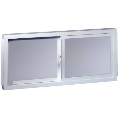 Northview Aspen Glider 32 In. W. x 23-1/4 In. H. White PVC Basement Window