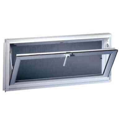Northview Hemlock Hopper 32 In. W x 15-1/4 In. H White PVC Basement Window