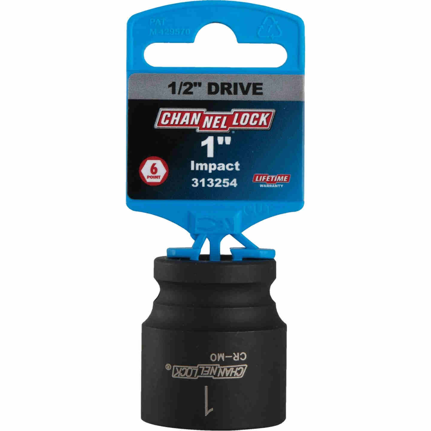 Channellock 1/2 In. Drive 1 In. 6-Point Shallow Standard Impact Socket Image 2