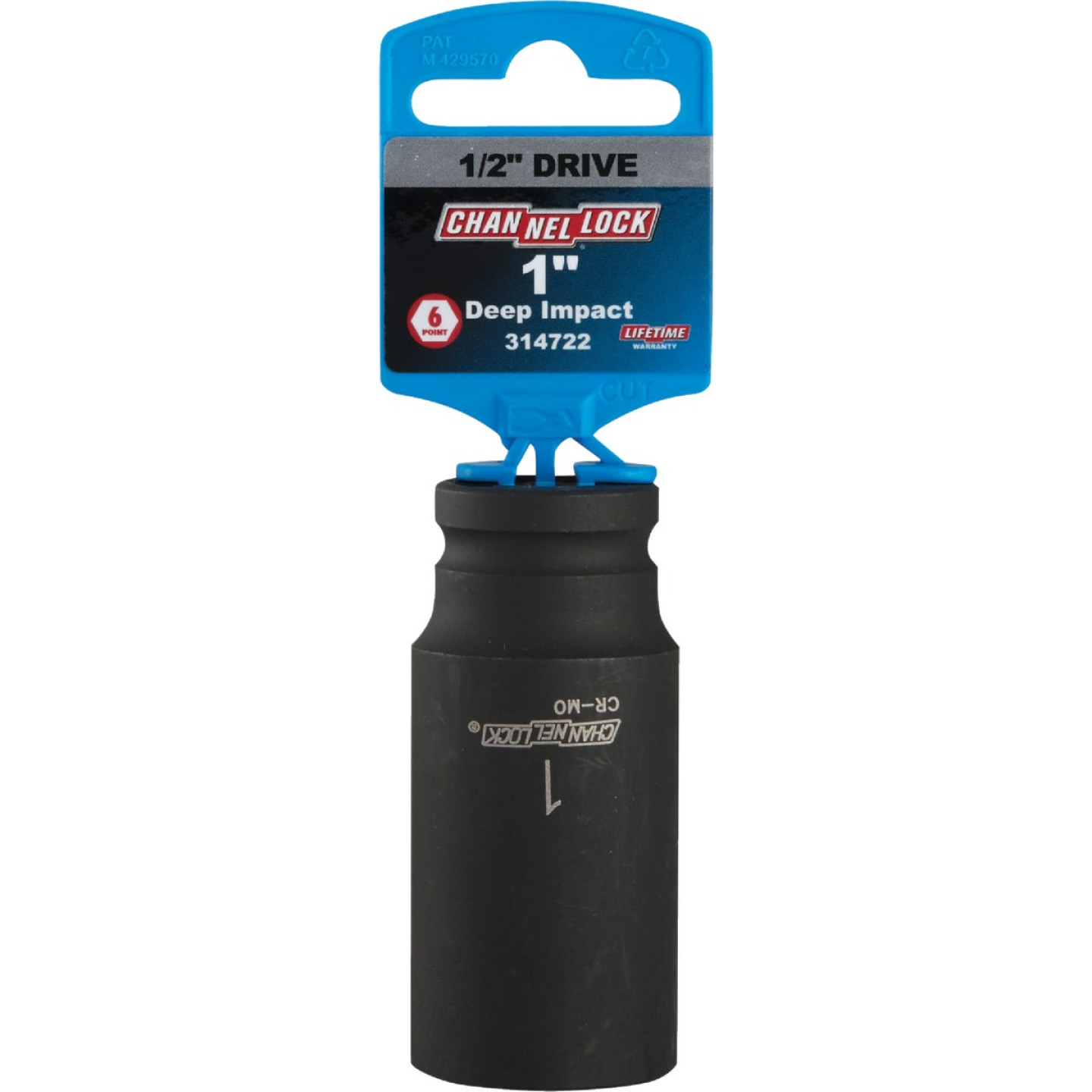 Channellock 1/2 In. Drive 1 In. 6-Point Deep Standard Impact Socket Image 2