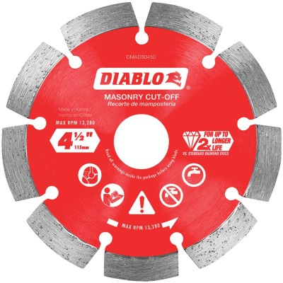 Diablo 4-1/2 In. Segmented Rim Dry/Wet Cut Diamond Blade