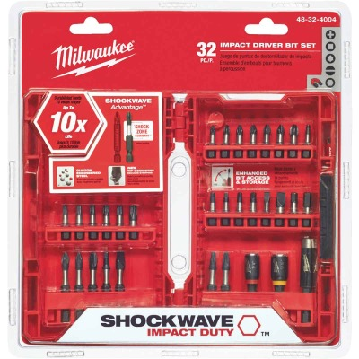Milwaukee Shockwave Impact Screwdriver Bit Set (32-Piece)