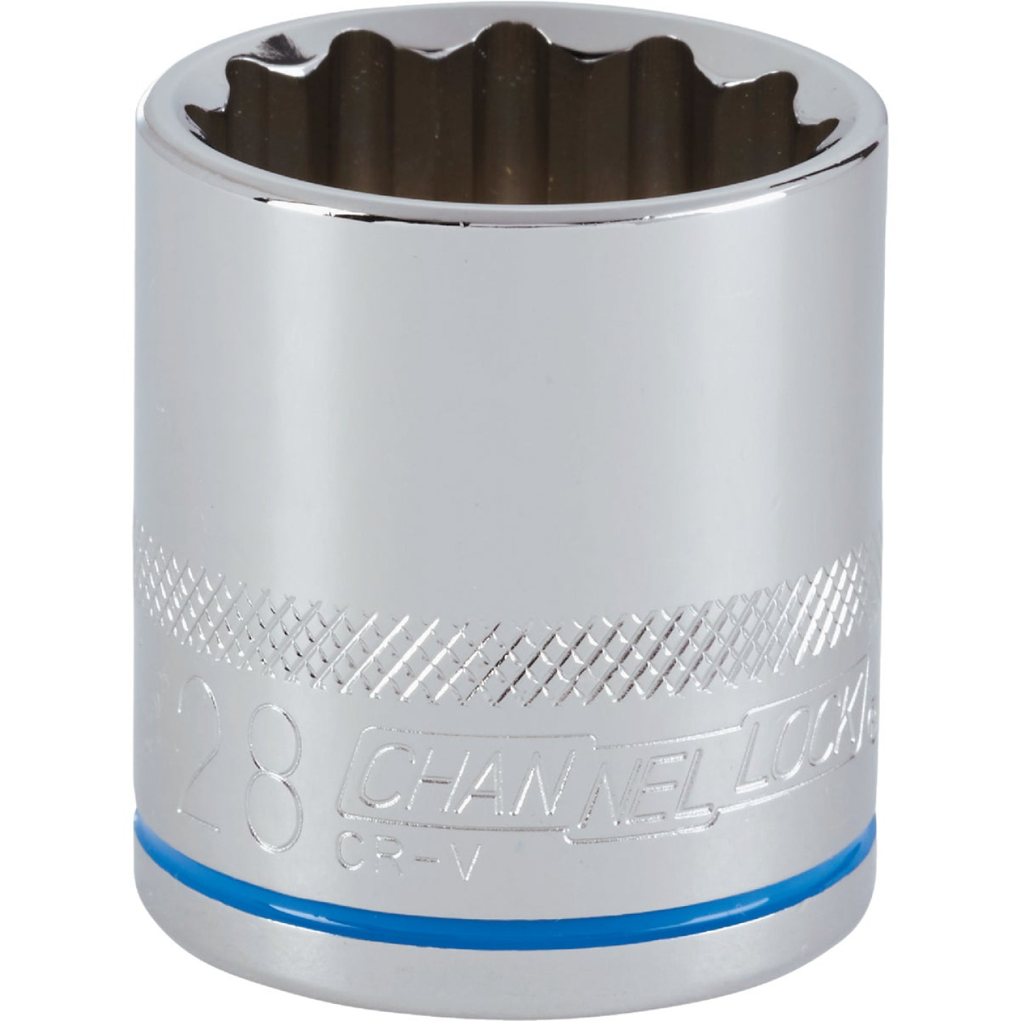 Channellock 1/2 In. Drive 28 mm 12-Point Shallow Metric Socket Image 1