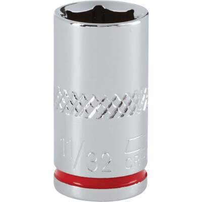 Channellock 1/4 In. Drive 11/32 In. 6-Point Shallow Standard Socket