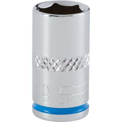 Channellock 1/4 In. Drive 9 mm 6-Point Shallow Metric Socket