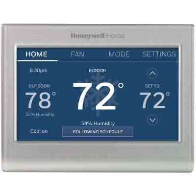 Honeywell Home WiFi Smart Color 7-Day Programmable Silver Metallic Digital Thermostat