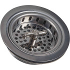 Do it 3-1/2 In. Chrome Turn 'n Seal Basket Strainer Assembly Image 1