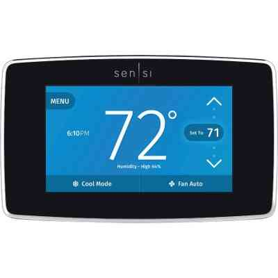 Emerson Sensi WiFi 7-Day Programmable Black Digital Thermostat