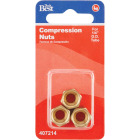 Do it 1/4 In. OD Brass Compression Nut (3-Pack) Image 2