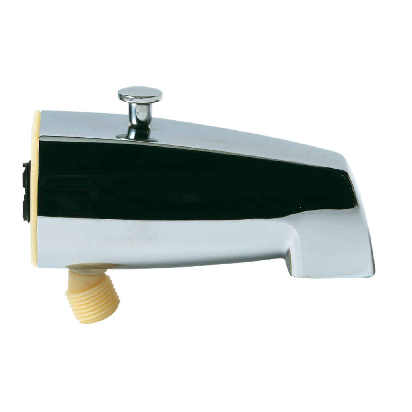 Do it 5-1/2 In. Bottom Mount Chrome Bathtub Spout with Diverter Image 1