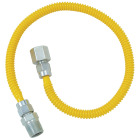 Dormont 3/8 In. OD x 48 In. Coated Stainless Steel Gas Connector, 1/2 In. FIP x 1/2 In. MIP (Tapped 3/8 In. FIP) Image 1