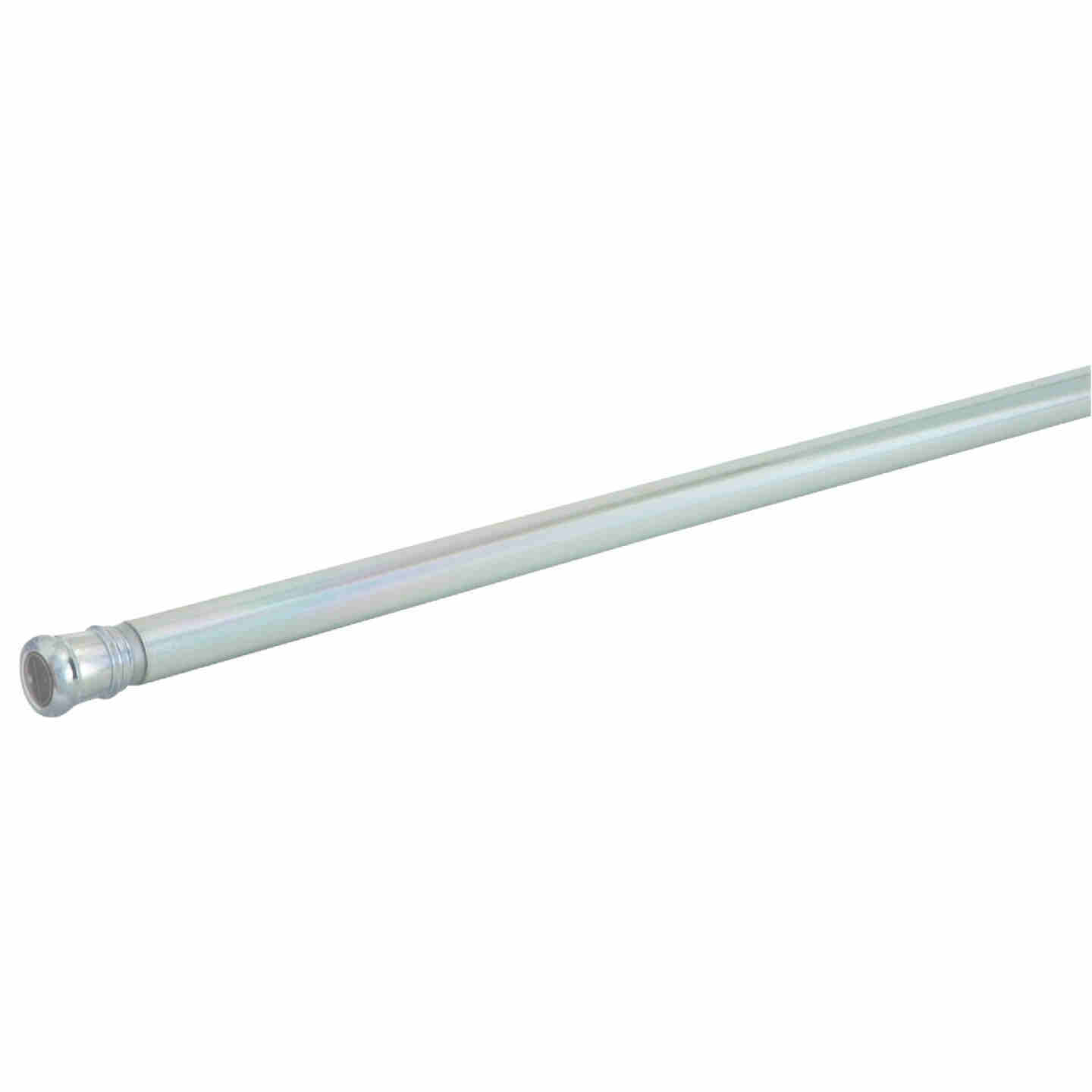 Zenith Straight 42 In. To 72 In. Adjustable Tension Shower Rod in Chrome Image 1