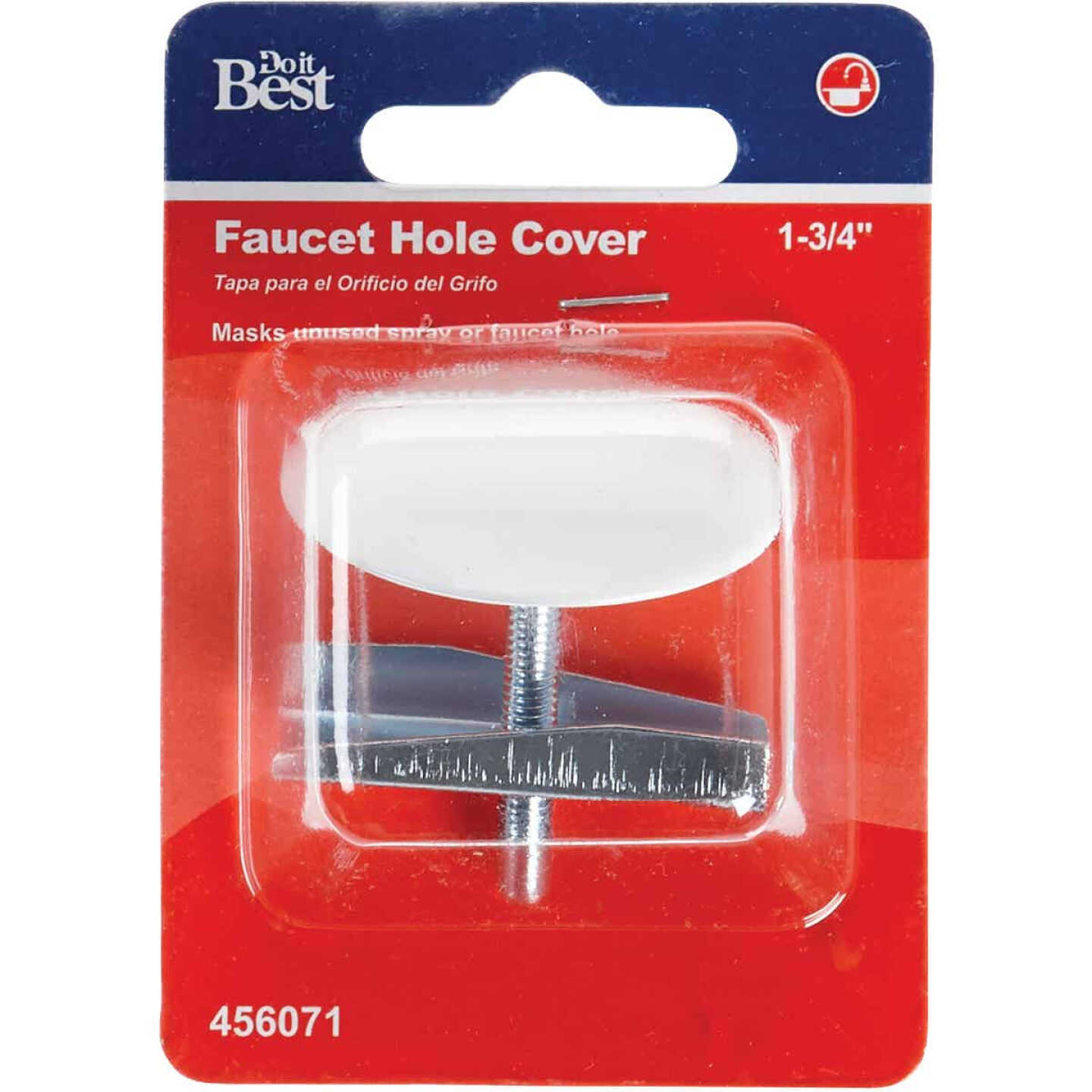 Do it 1-3/4 In. White Metal Faucet Hole Cover Image 2