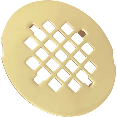 Do it 4-1/4 In. Polished Brass Snap-In Shower Drain Strainer