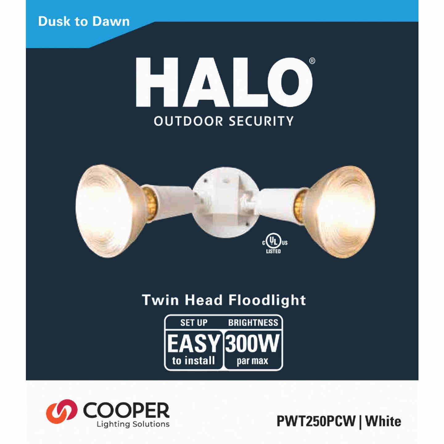 All-Pro White Dusk To Dawn Incandescent Floodlight Fixture Image 2