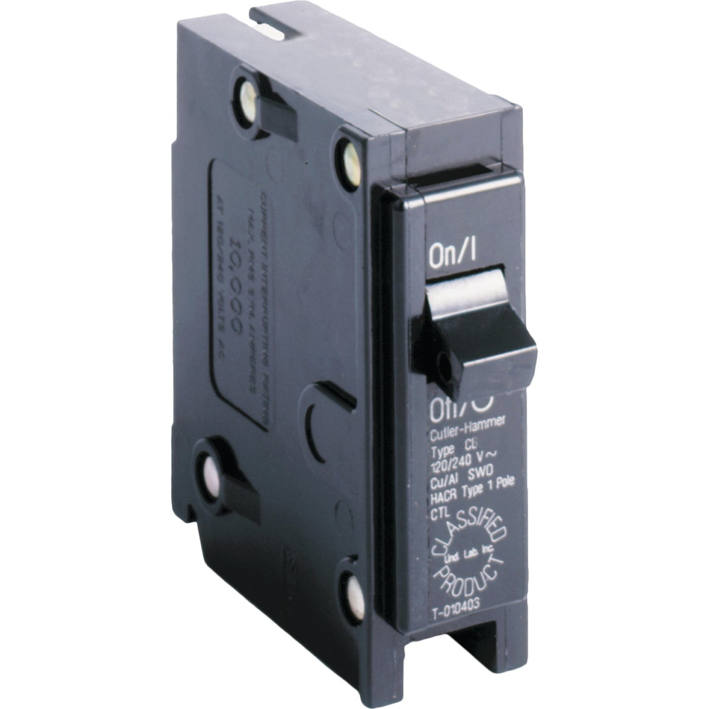 Eaton 15A Single-Pole Standard Trip Universal Replacement Circuit Breaker Image 1