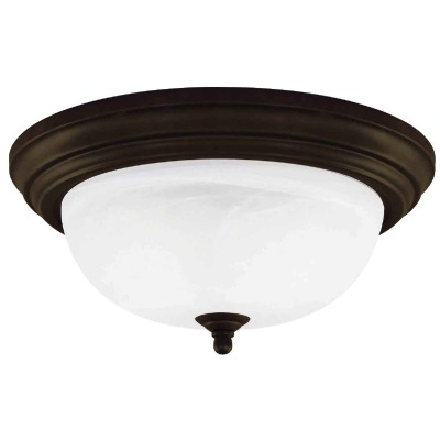 Home Impressions 11 In. Oil Rubbed Bronze Incandescent Flush Mount Ceiling Light Fixture
