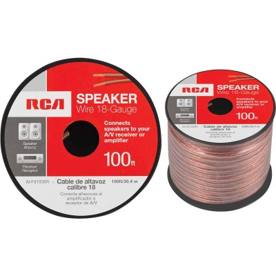 RCA 100 Ft. 18-2 Stranded Speaker Wire