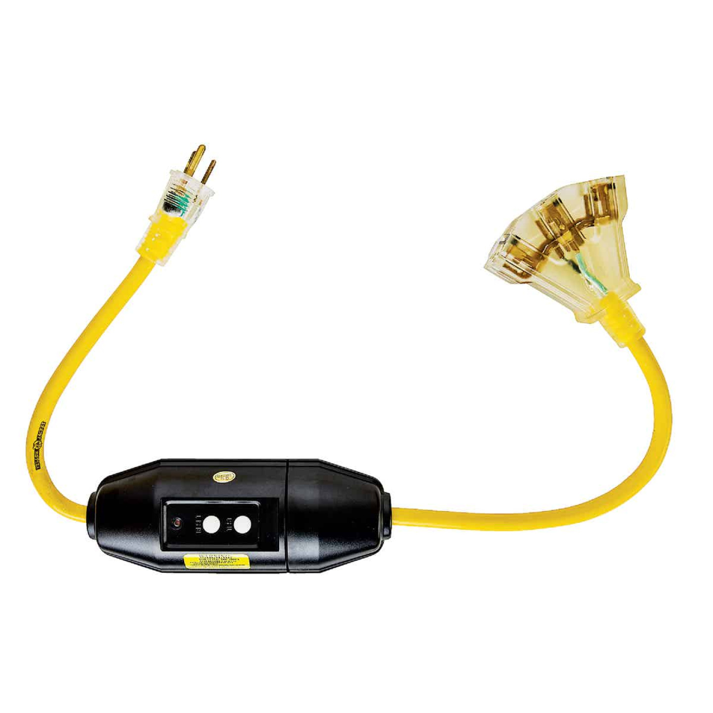 Yellow Jacket 2 Ft. 12 Ga. 3-Outlet GFCI Cord Image 3