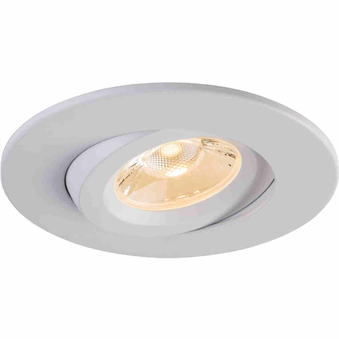 Liteline Trenz Retina 4 In. New Construction/Remodel IC Rated White Recessed Light Kit Image 1