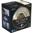Liteline Trenz Retina 4 In. New Construction/Remodel IC Rated Brushed Nickel Recessed Light Kit Image 1