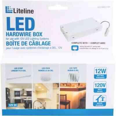 Liteline White Hardwire LED Under Cabinet Light Fixture Box