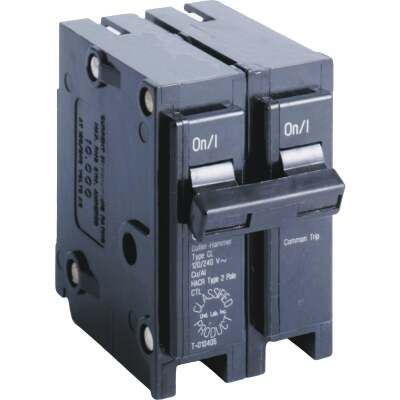 Eaton 50A Double-Pole Standard Trip Universal Replacement Circuit Breaker