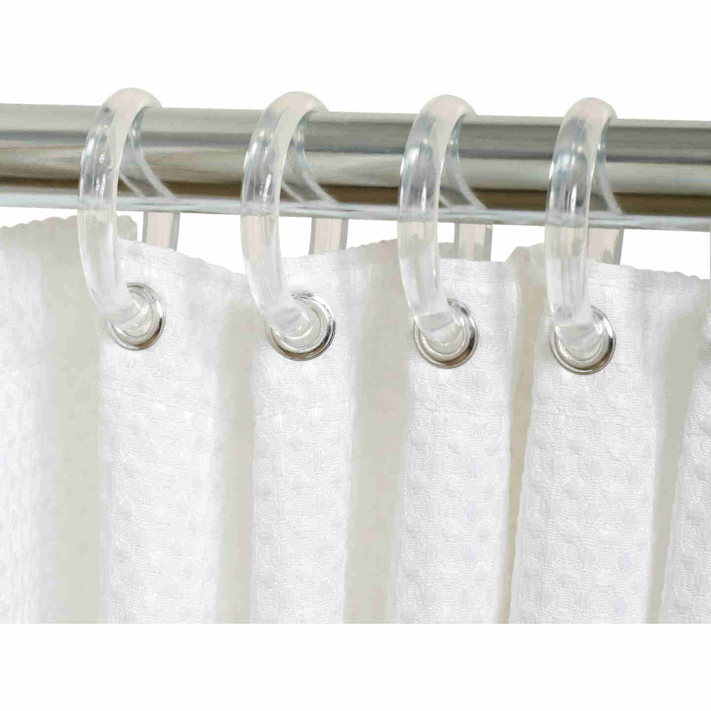 Zenith Zenna Home Clear Plastic Shower Curtain Ring (12 Count) Image 1