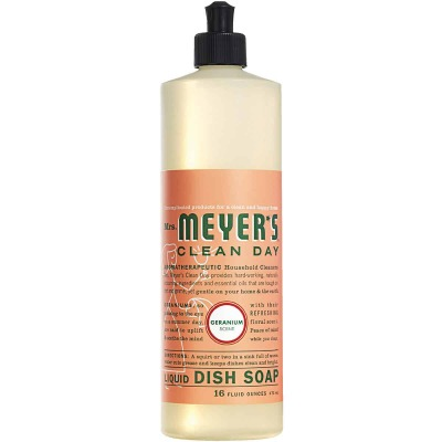 Mrs. Meyer's Clean Day 16 Oz. Geranium Scent Liquid Dish Soap