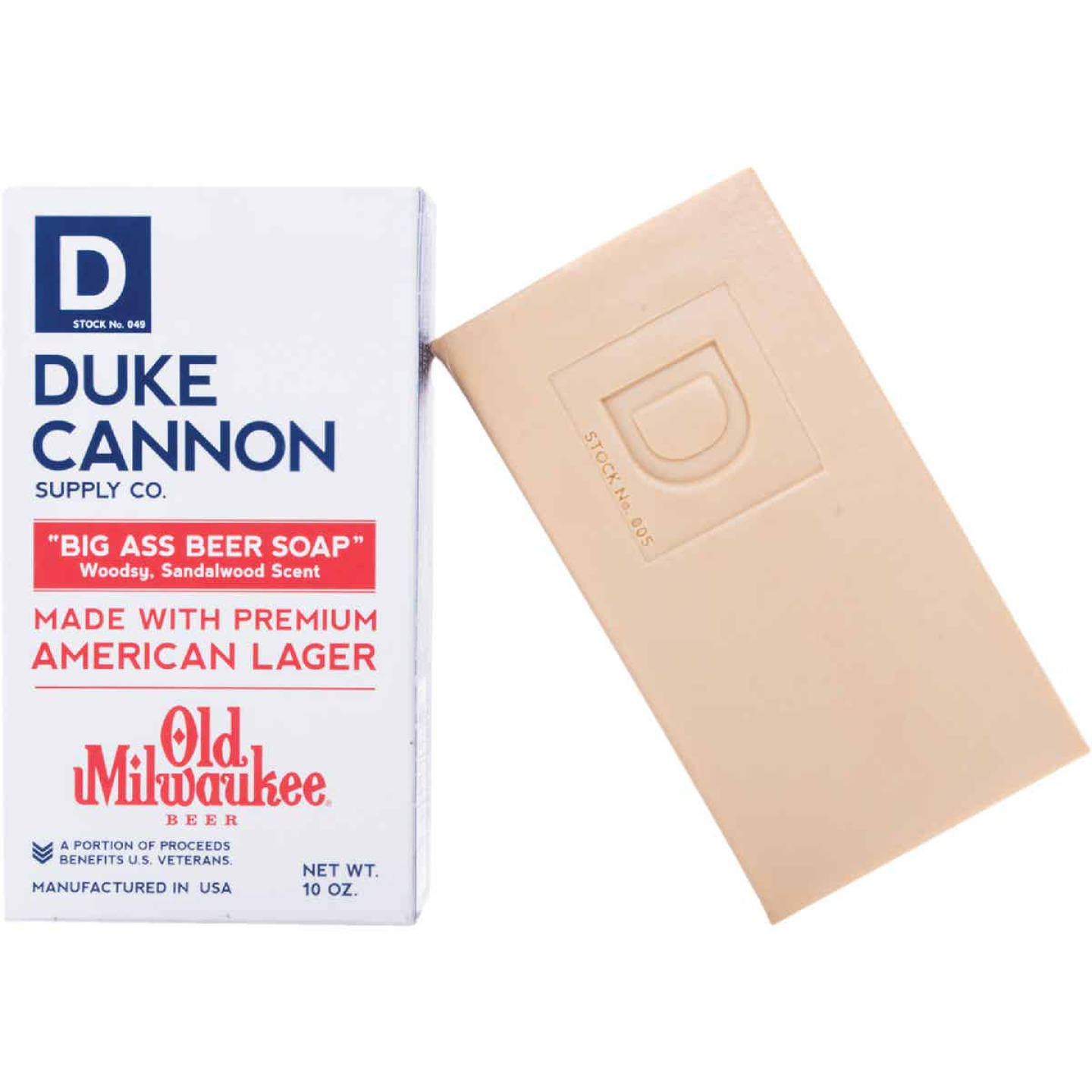 Duke Cannon 10 Oz. Old Milwaukee Big Ass Beer Soap Image 1