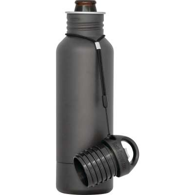 BottleKeeper 12 Oz. Charcoal Stainless Steel Insulated Drink Holder