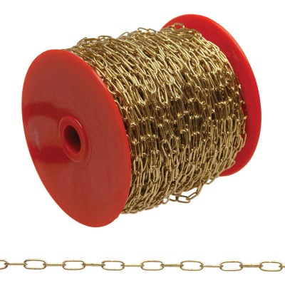 Campbell #7 82 Ft. Brass-Plated Metal Craft Chain