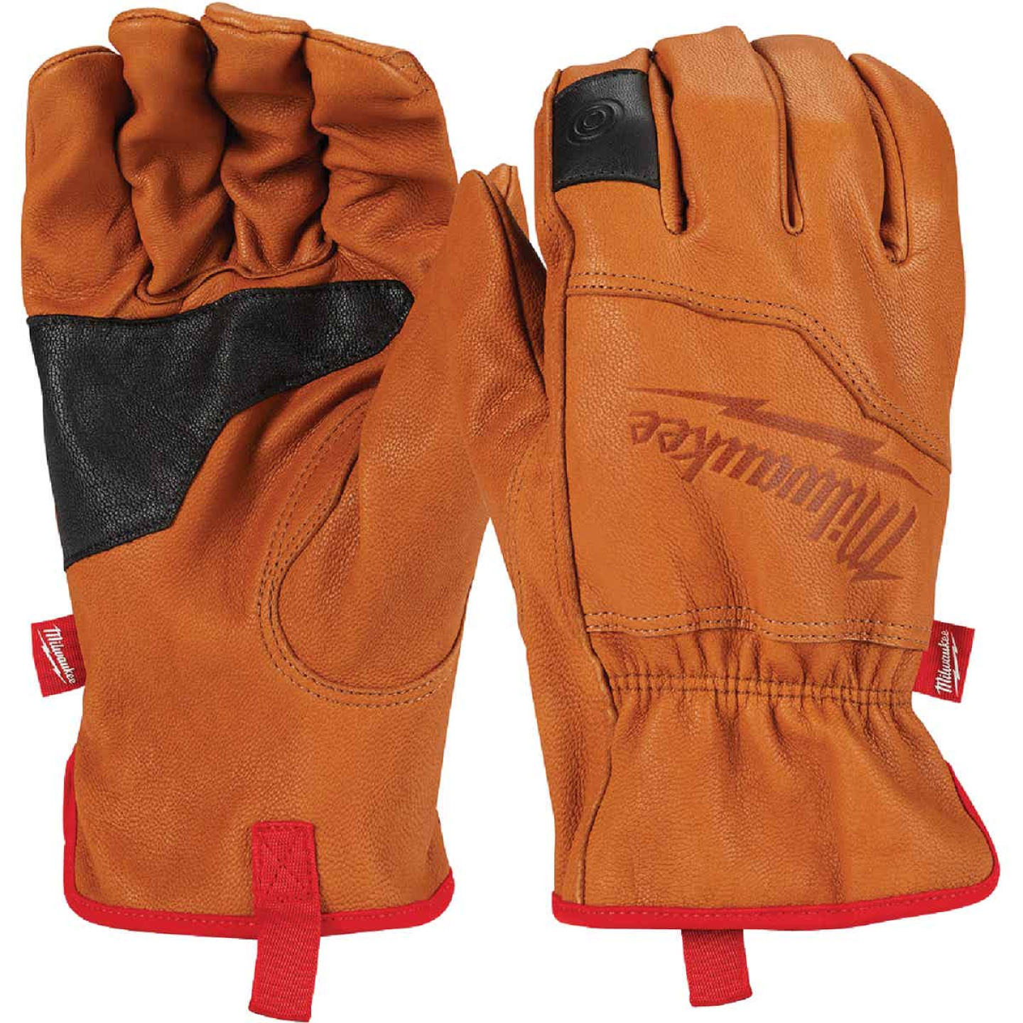 Milwaukee Men's Large Goatskin Leather Work Gloves Image 1
