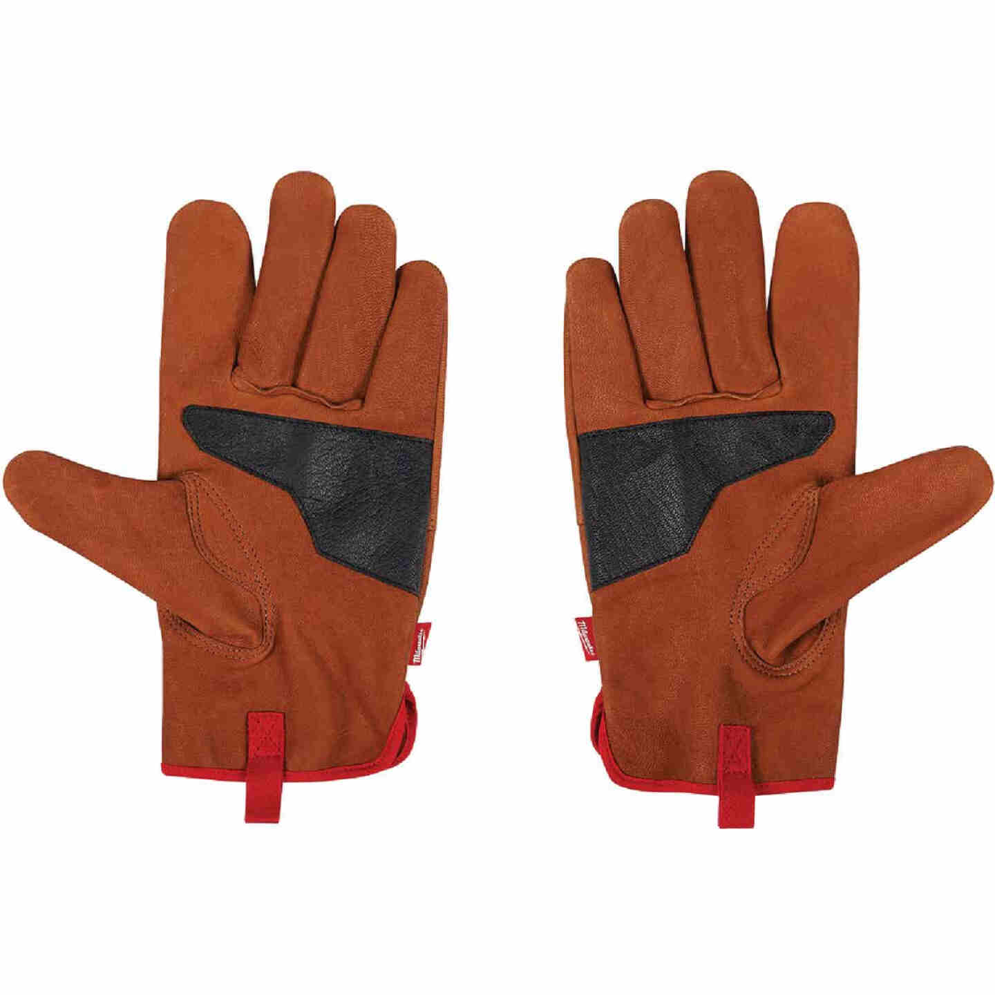 Milwaukee Men's XL Goatskin Leather Work Gloves Image 3
