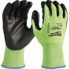 Milwaukee Men's Large Cut Level 2 High Vis Nitrile Dipped Glove Image 1
