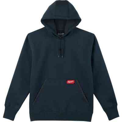 Milwaukee 2XL Navy Blue Heavy-Duty Pullover Hooded Sweatshirt