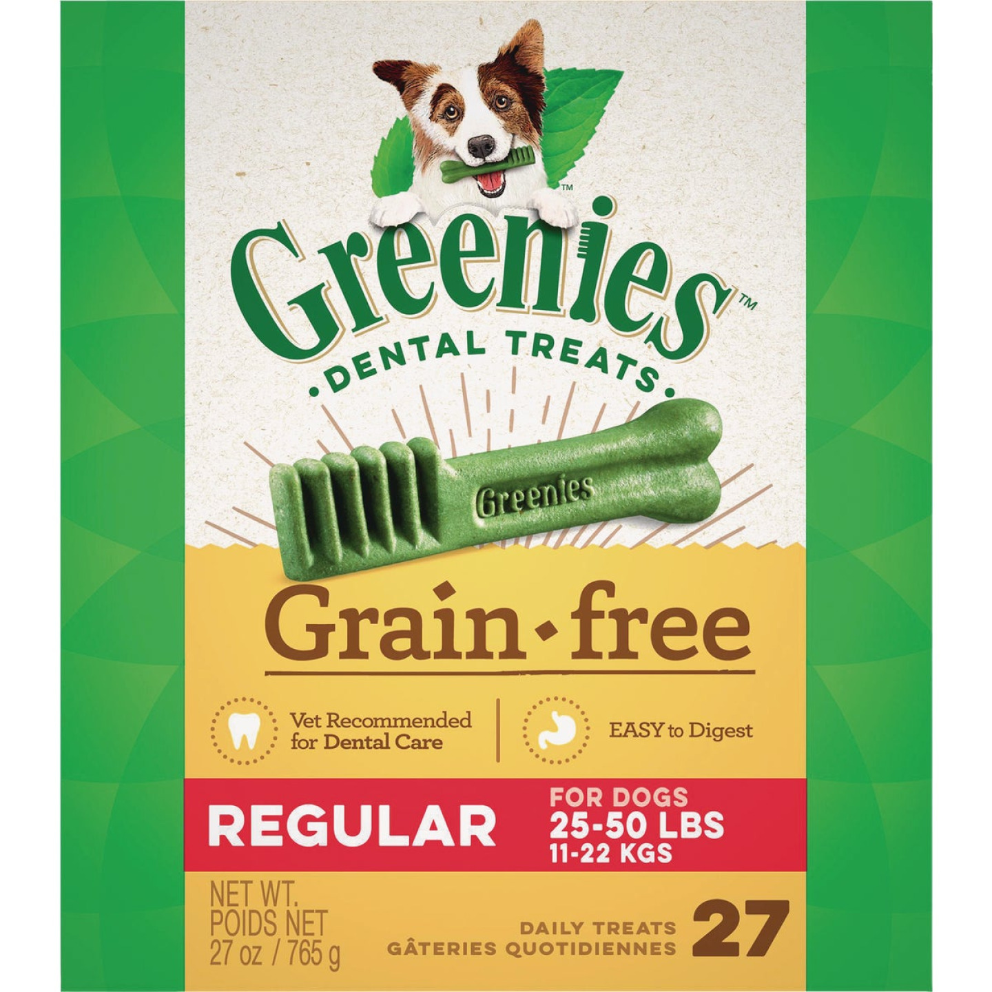 Greenies Regular Medium Dog Original Flavor Grain-Free Dental Dog Treat (27-Pack) Image 1