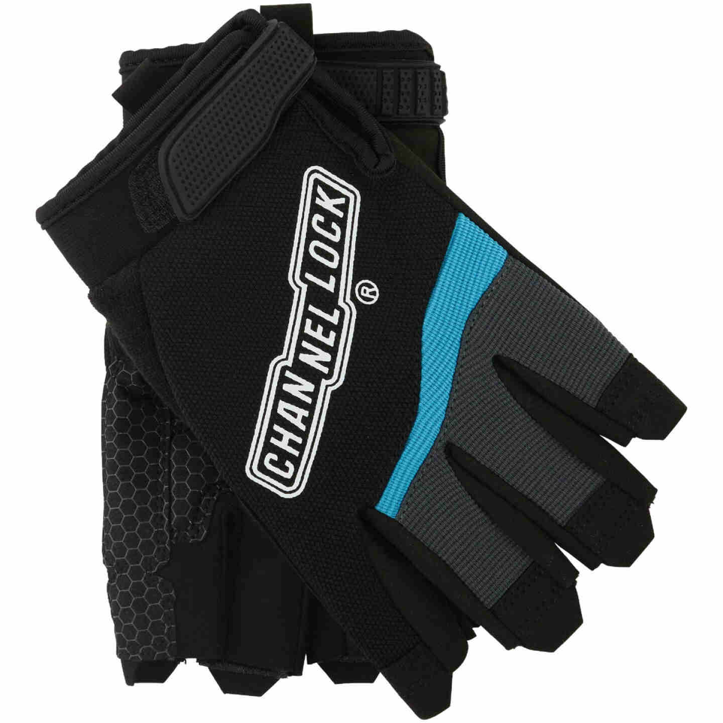 Channellock Men's XL Synthetic Fingerless Work Glove Image 1