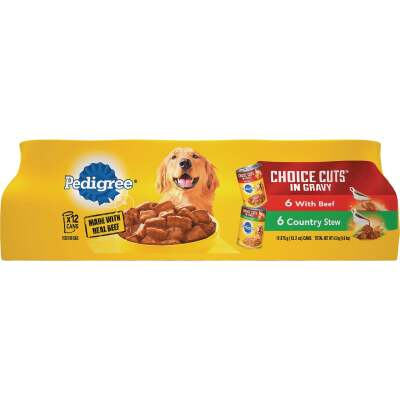 Pedigree Choice Cuts Beef/Country Stew Variety Adult Wet Dog Food (12-Pack)