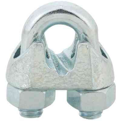 Campbell 1/4 In. Galvanized Iron Cable Clip