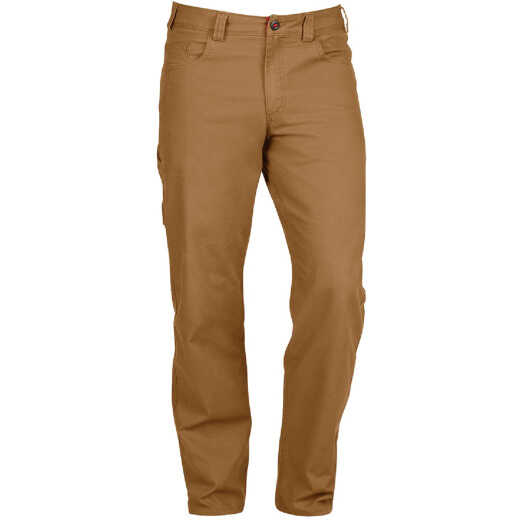 Milwaukee Flex Khaki 34 x 32 Heavy-Duty Work Pants
