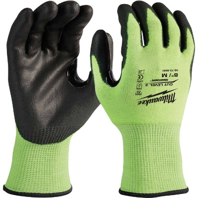 Milwaukee Men's Medium Cut Level 3 High Vis Nitrile Dipped Glove