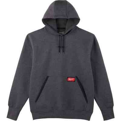 Milwaukee 2XL Gray Heavy-Duty Pullover Hooded Sweatshirt