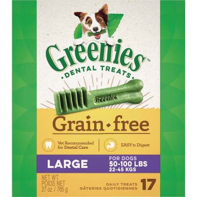 Greenies Large Dog Original Flavor Grain-Free Dental Dog Treat (17-Pack)