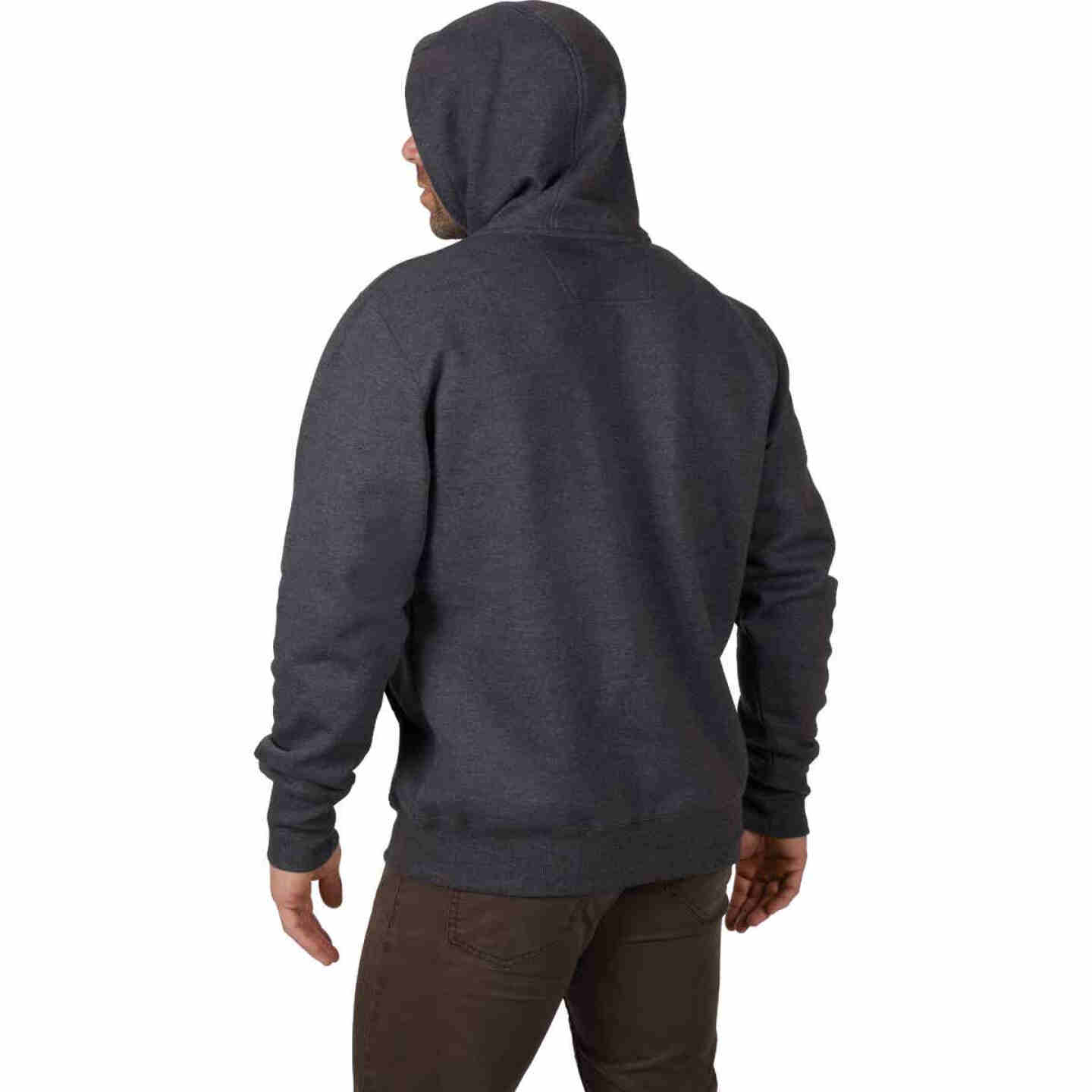 Milwaukee Medium Gray Heavy-Duty Pullover Hooded Sweatshirt Image 3