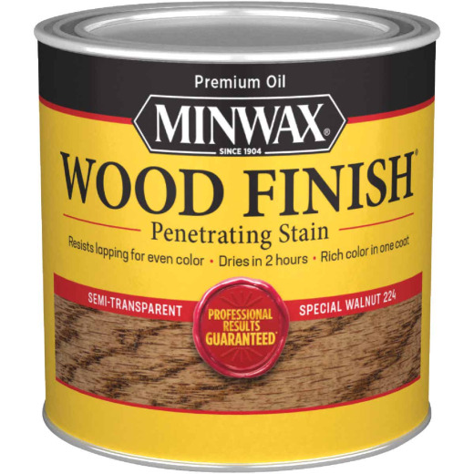 Minwax Wood Finish Penetrating Stain, Special Walnut, 1/2 Pt.