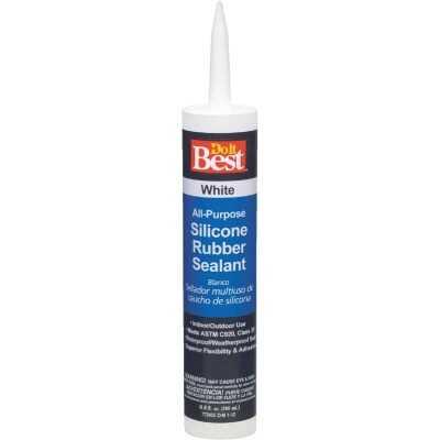 Do it Best 9.8 Oz. All-Purpose Silicone Sealant, White