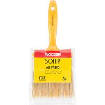 Wooster Softip 4 In. Flat Wall Paint Brush